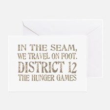 In the Seam Hunger Games Gear Greeting Card