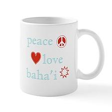 Peace, Love and Baha'i Mug