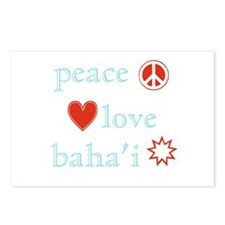 Peace, Love and Baha'i Postcards (Package of 8)