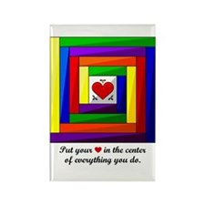 Quilt Square Rectangle Magnet (10 pack)