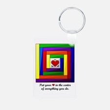 Quilt Square Keychains