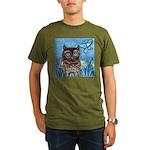 owls Organic Men's T-Shirt (dark)
