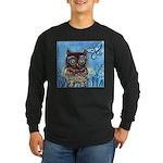 owls Long Sleeve Dark T-Shirt