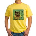 owls Yellow T-Shirt