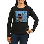 owls Women's Long Sleeve Dark T-Shirt