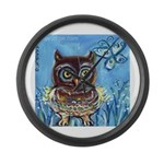 owls Large Wall Clock