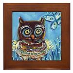 owls Framed Tile