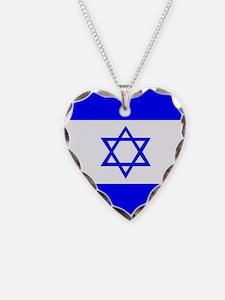 Israel Flag Necklace
