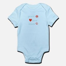 Peace, Love and Islam Infant Bodysuit