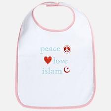Peace, Love and Islam Bib