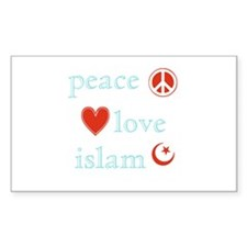 Peace, Love and Islam Decal