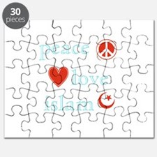 Peace, Love and Islam Puzzle