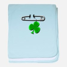 Cute Irish pins baby blanket
