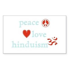 Peace, Love and Hinduism Decal