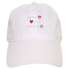Peace, Love and Judaism Baseball Cap