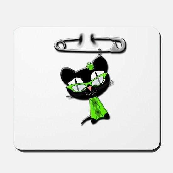 Irish Kitty Charm Mousepad