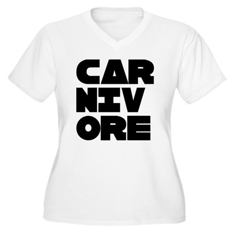Pro Carnivore Women's Plus Size V-Neck T-Shirt