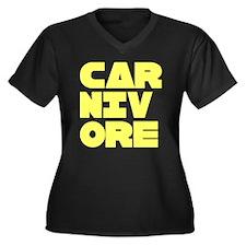 Pro Carnivore Women's Plus Size V-Neck Dark T-Shir