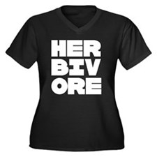 Pro Herbivore Women's Plus Size V-Neck Dark T-Shir