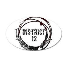 District 12 Hunger Games Gear 38.5 x 24.5 Oval Wal