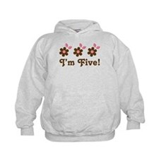 5th Birthday Flowers Hoodie
