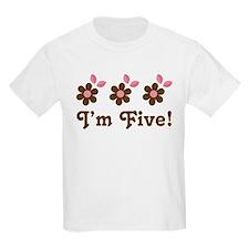 5th Birthday Flowers T-Shirt