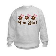 6th Birthday Flowers Sweatshirt