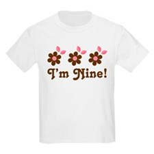 9th Birthday Flowers T-Shirt