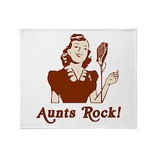 Retro Aunts Rock Throw Blanket