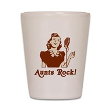 Retro Aunts Rock Shot Glass