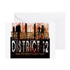 District 12 Mining Hunger Games Gear Greeting Card