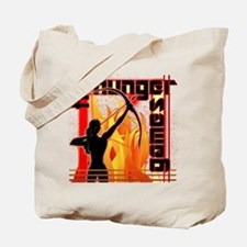 Katniss on Fire Hunger Games Gear Tote Bag