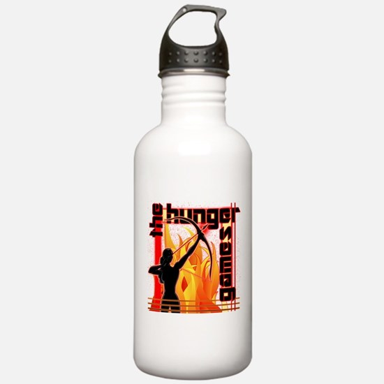 Katniss on Fire Hunger Games Gear Sports Water Bottle