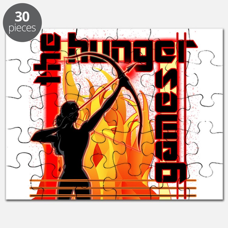 Katniss on Fire Hunger Games Gear Puzzle