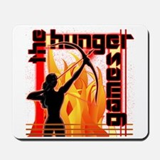 Katniss on Fire Hunger Games Gear Mousepad