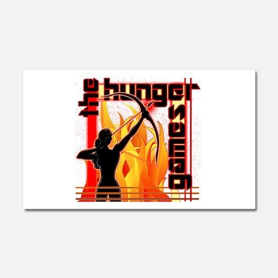 Katniss on Fire Hunger Games Gear Car Magnet 20 x