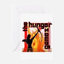 Katniss on Fire Hunger Games Gear Greeting Cards (