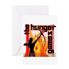 Katniss on Fire Hunger Games Gear Greeting Card