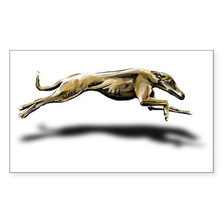 Greyhound Illustration Rectangle Sticker