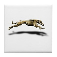 Greyhound Illustration Tile Coaster