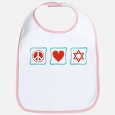 Peace, Love and Judaism Bib