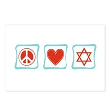 Peace, Love and Judaism Postcards (Package of 8)