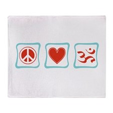Peace, Love and Hinduism Throw Blanket