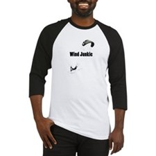 Wind Junkie Black Baseball Jersey