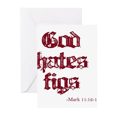 God Hates Figs Greeting Cards (Pk of 20)