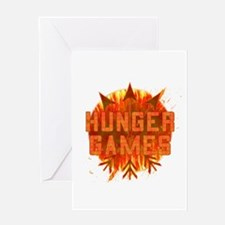 Hunger Games Gear On Fire Greeting Card