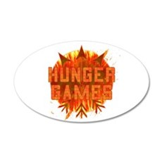 Hunger Games Gear On Fire 38.5 x 24.5 Oval Wall Pe