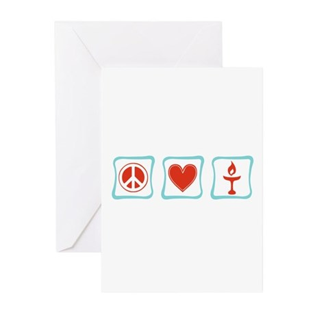Peace, Love and Unitarianism Greeting Cards (Pk of