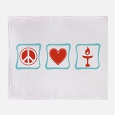 Peace, Love and Unitarianism Throw Blanket