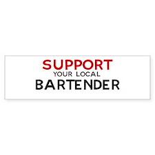 Support: BARTENDER Bumper Car Sticker